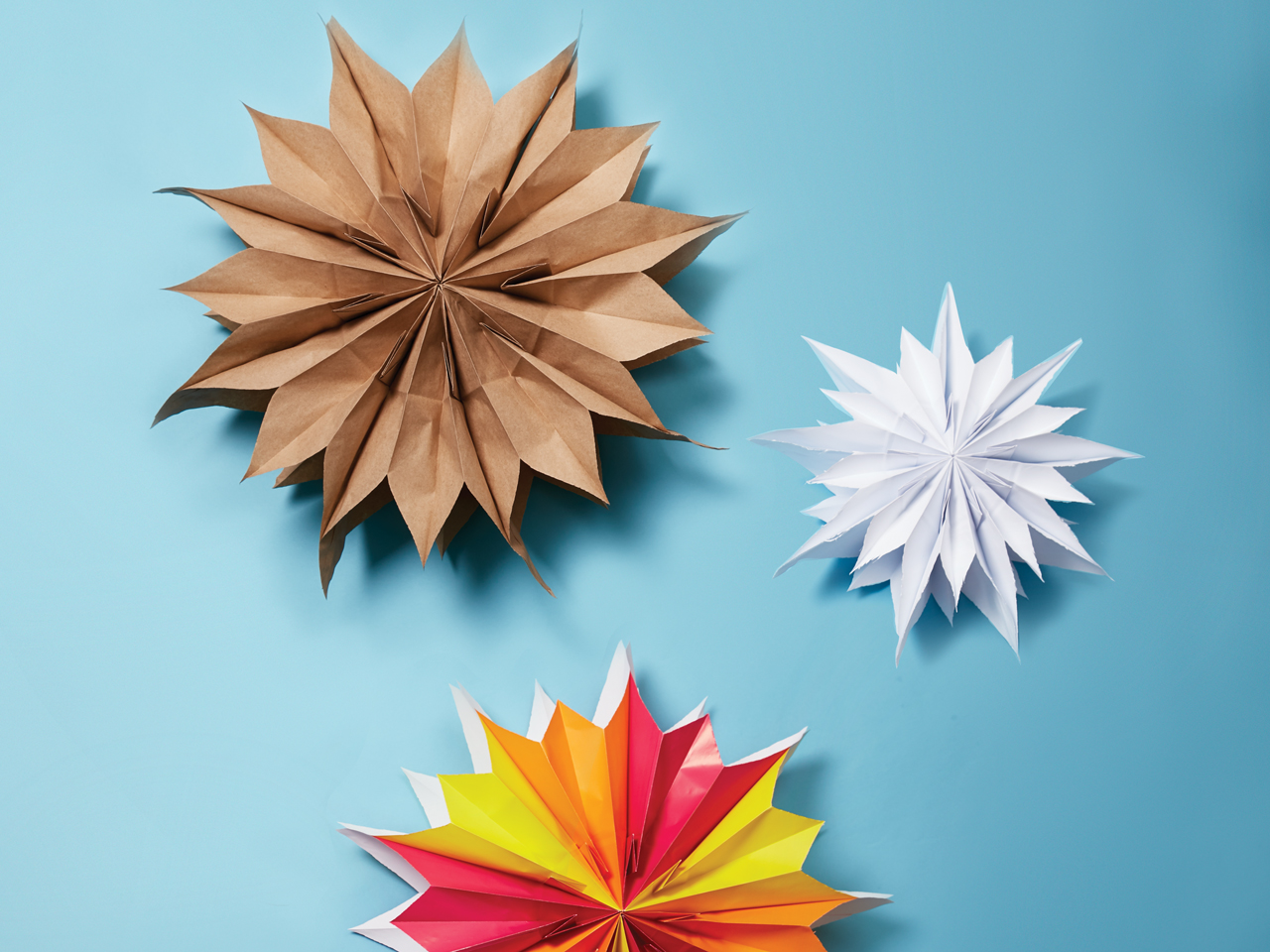 How To Make Paper Bag Star Decorations