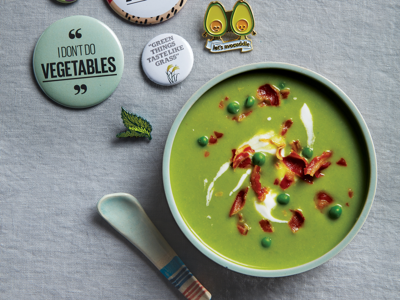 Green Pea And White Bean Soup