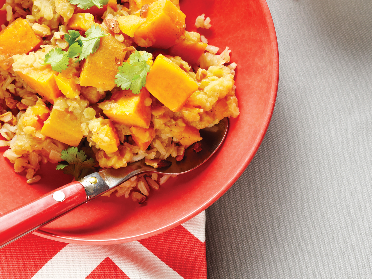 Red Lentils with Sweet Potato and Apricots