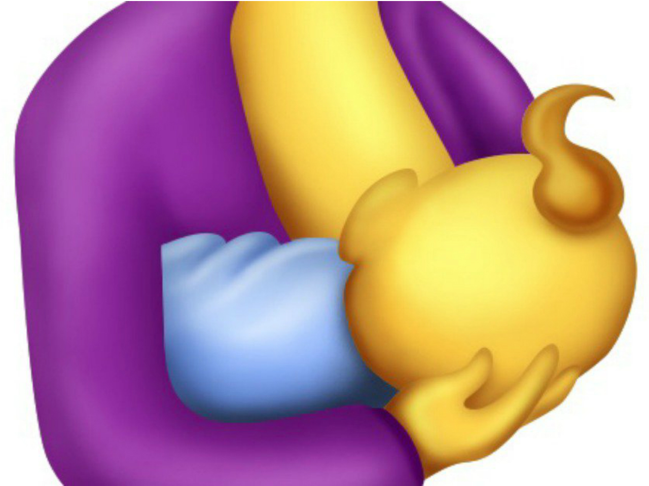 Breastfeeding mom emoji