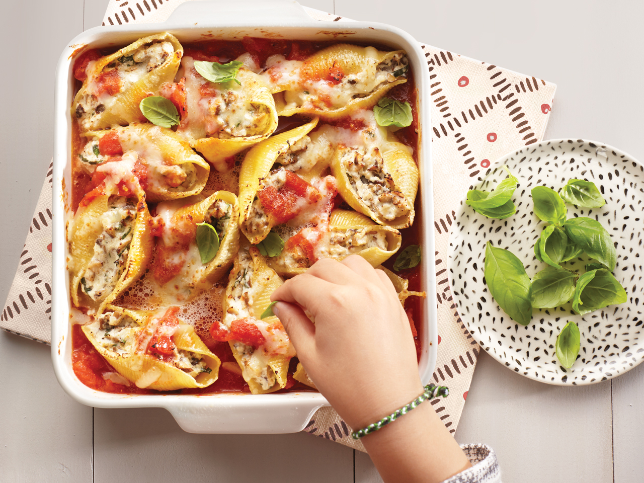 Cheese Stuffed Giant Shells