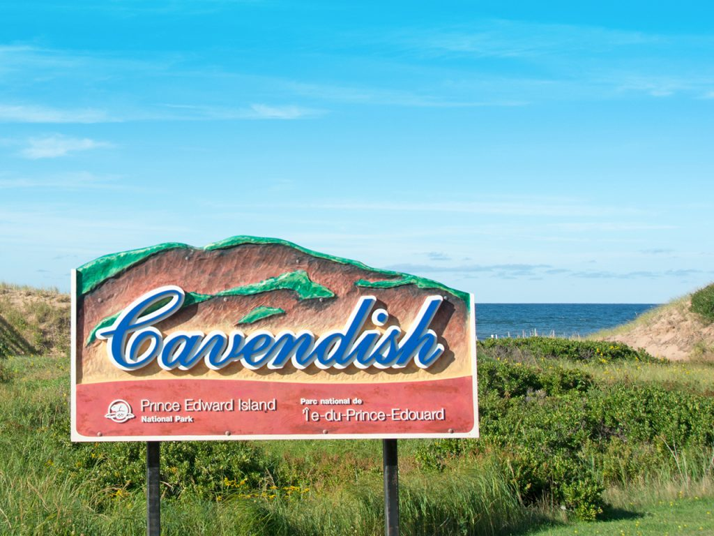 Photo of the welcome sign at Cavendish