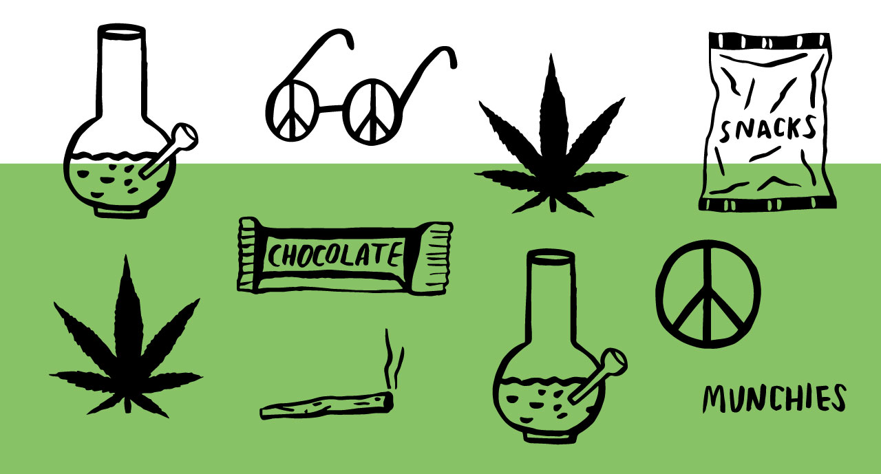 420 pot smoking illustration