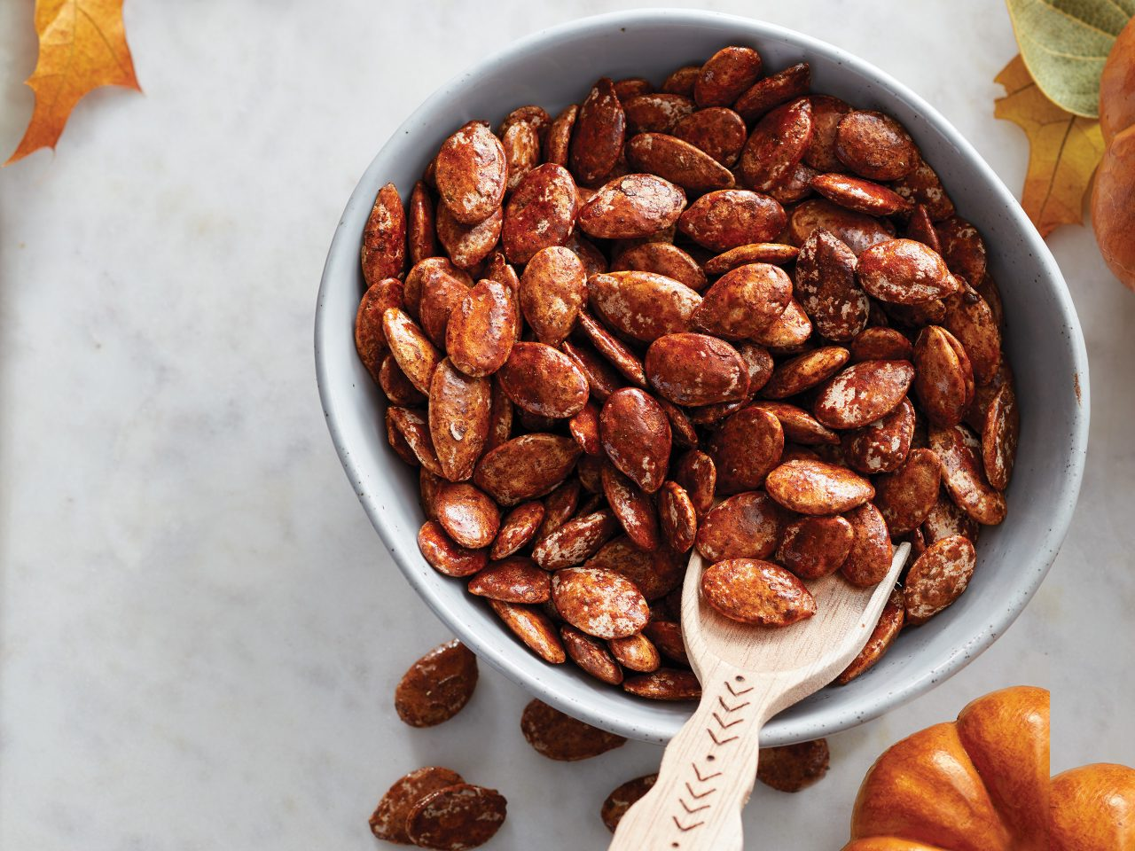 Cinnamon-Maple Roasted Pumpkin Seeds