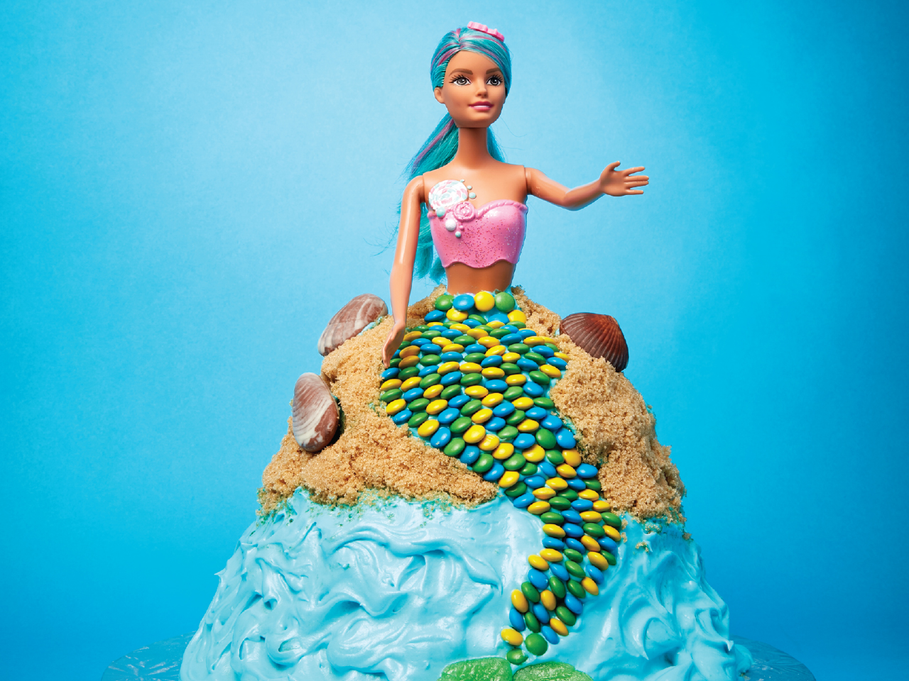how to make a mermaid cake video todays parent - Mermaid Pictures
