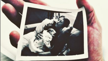 a photograph of channing tatum's wife jenna dewan holding their daughter