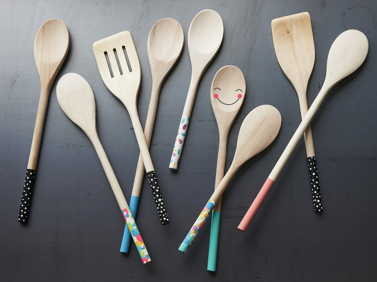 Handmade gifts kids can make painted wooden spoons for Cheap wooden spoons for crafts