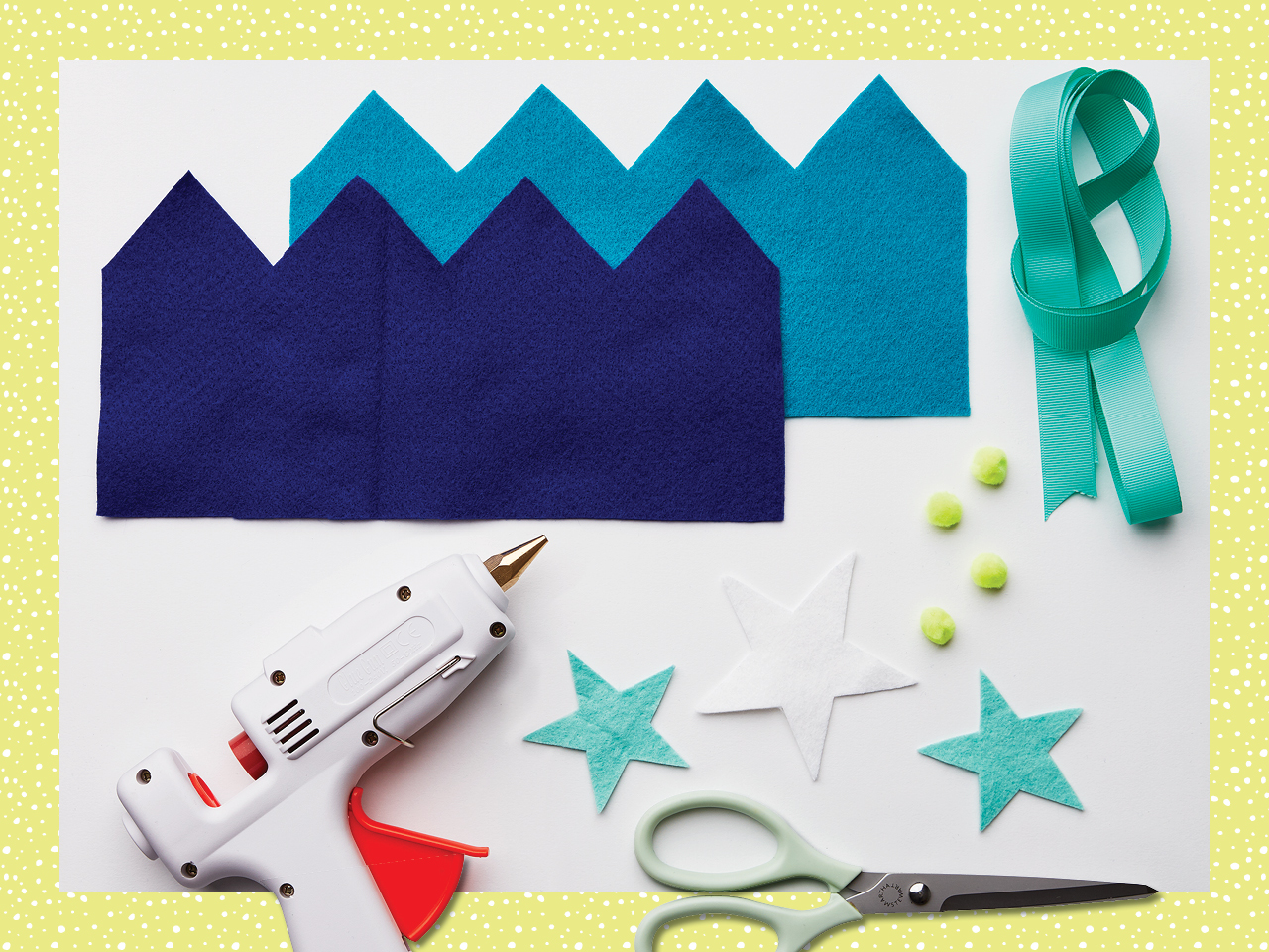 craft supplies for felt crown project