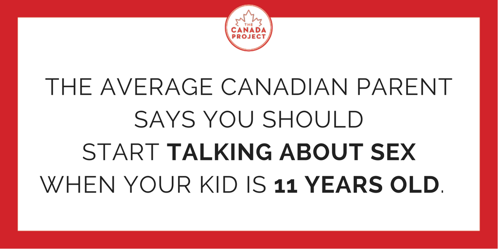The average Canadian parent says you should start talking about sex when your kid is 11 years old
