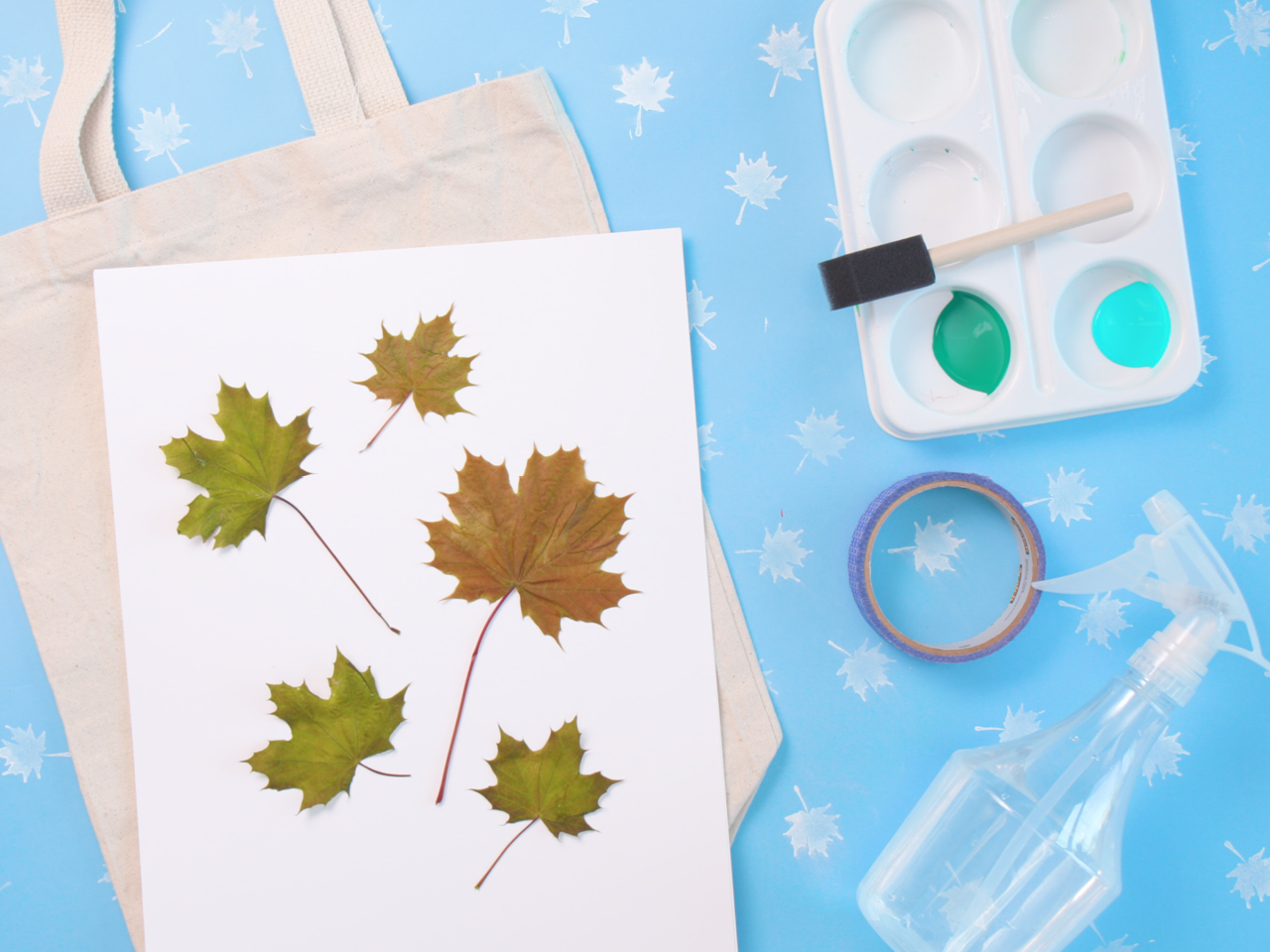how to make a maple leaf tote bag