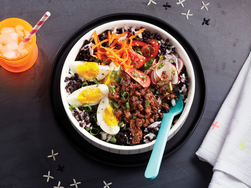 Ginger Beef Rice Bowl