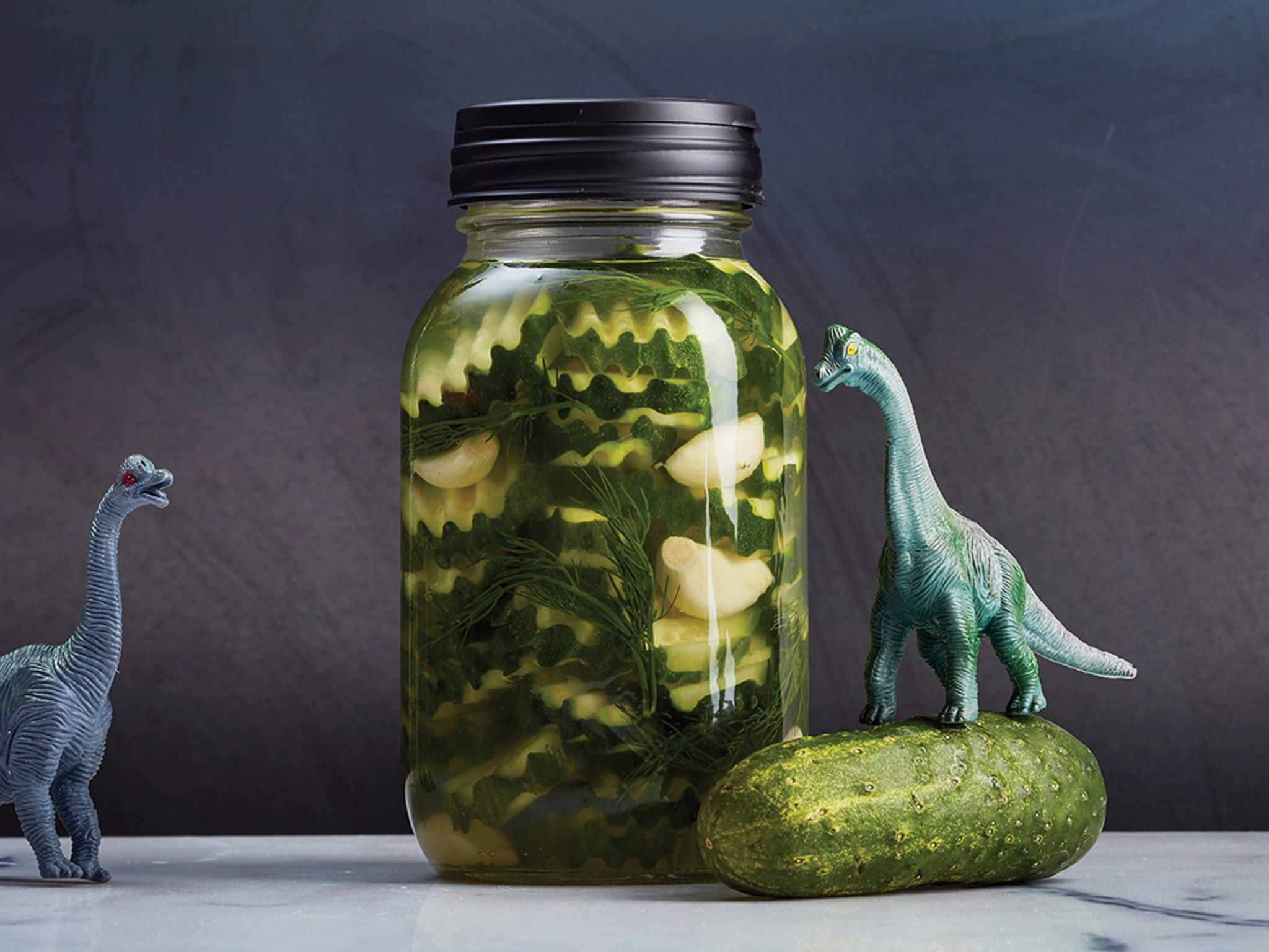 Quick-Pickled Cukes