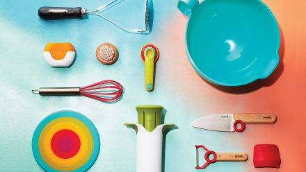 Assortment of kitchen tools for kids