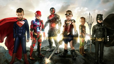 Six kids with medical conditions dressed as the Justice League
