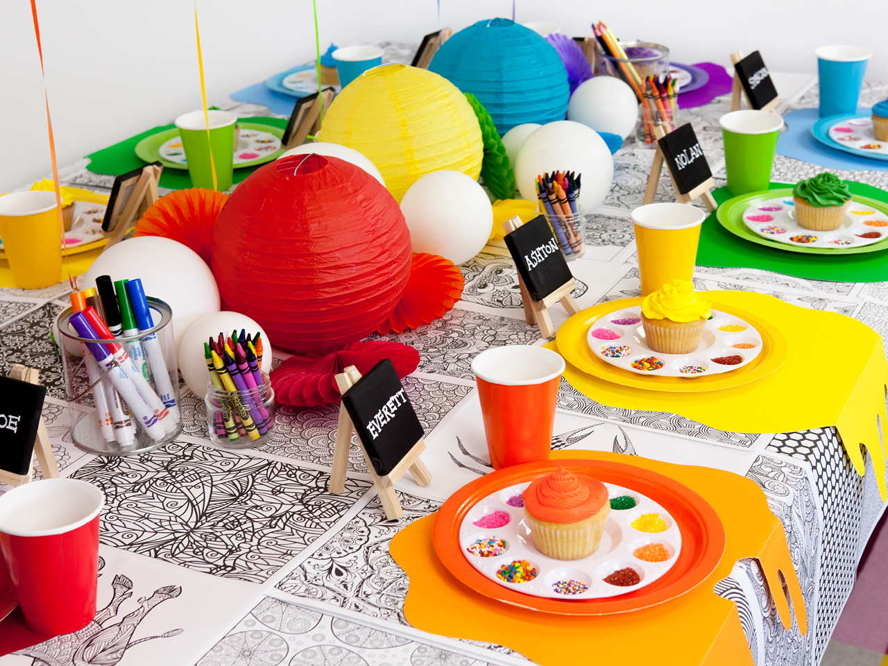 art birthday party How to throw an art themed birthday party art birthday party