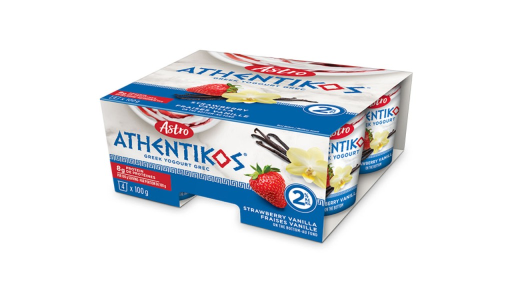 Astro Athentikos Greek Yogurt, package of single serving cups