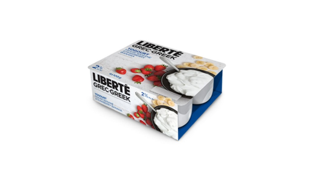 Liberte Greek yogurt package