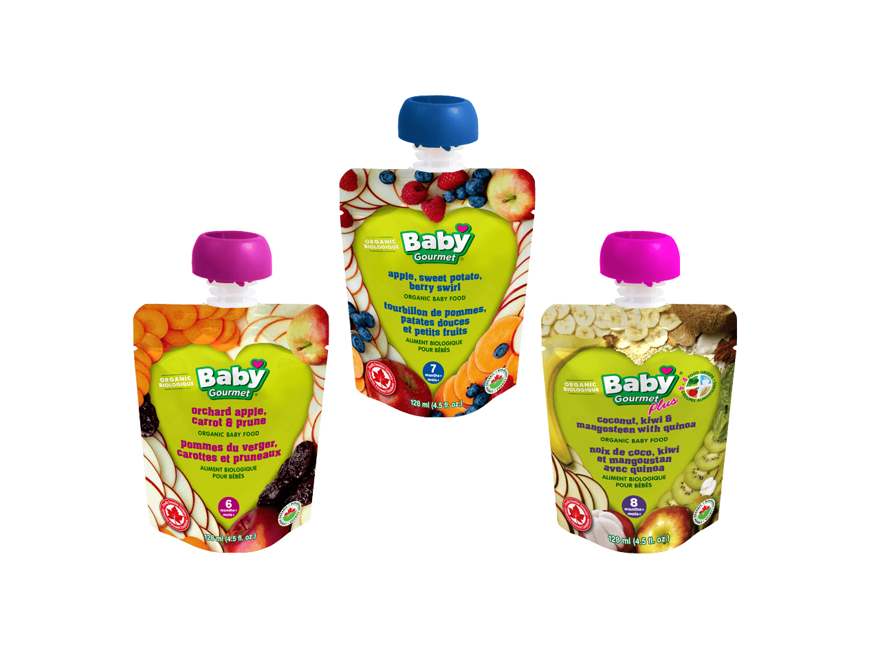 Baby Gourmet Organic Baby Food puree pouches