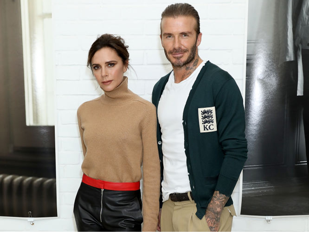 Victoria and David Beckham attend the Kent & Curwen SS18 LFWM Presentation on June 11, 2017 in London, England