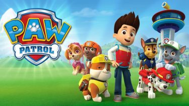 Promo image for PAW Patrol season 4 Shows an animated boy surround by his canine hero friends