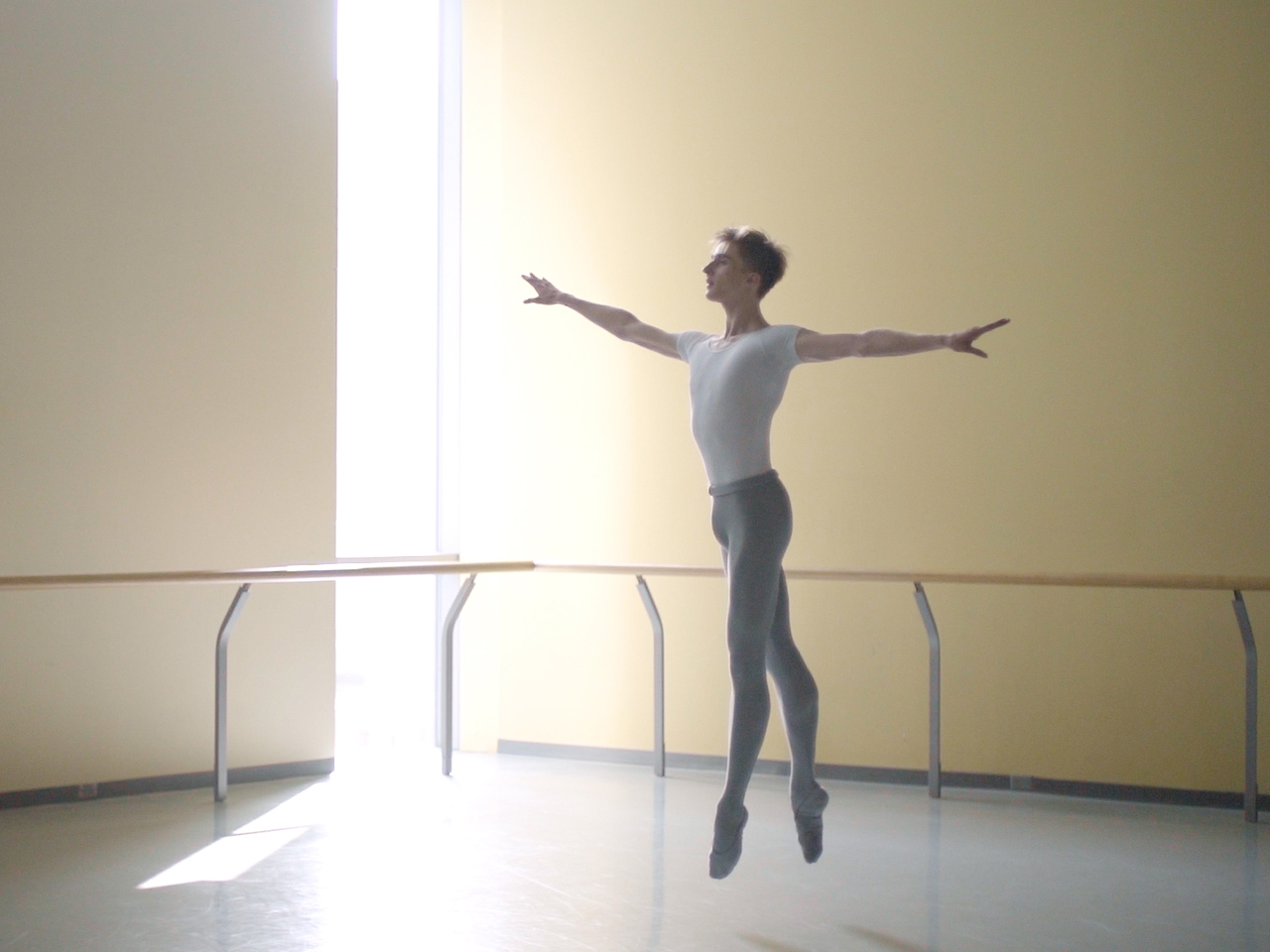 Young boy named Leo dancing ballet