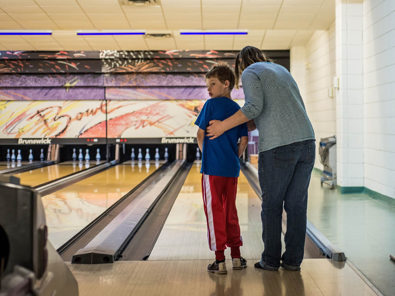 Autism Town - Gallery Image 5 - Christopher in the bowling alley