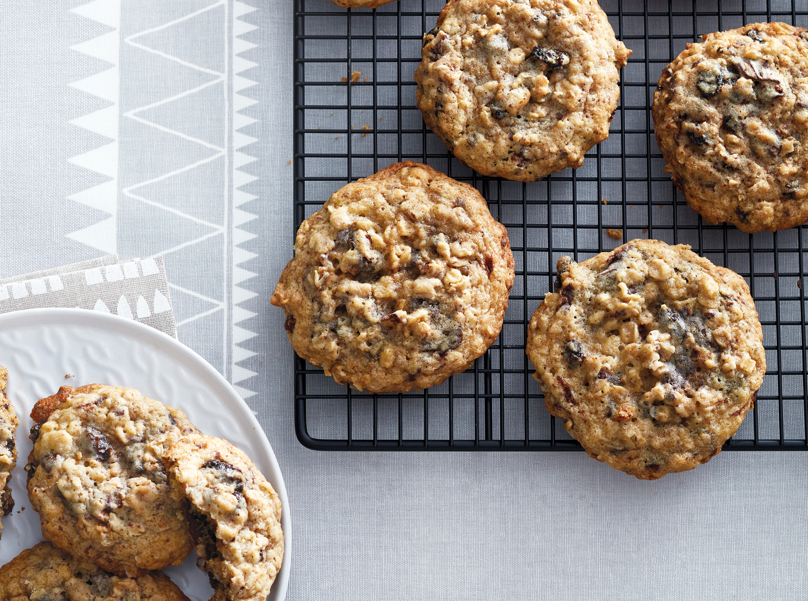 Big Batch Oatmeal Chocolate Raisin Cookies