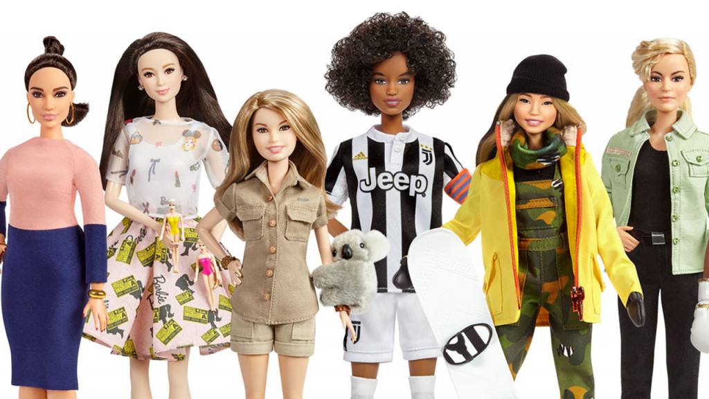 Range of dolls from Barbie's Sheroes Line