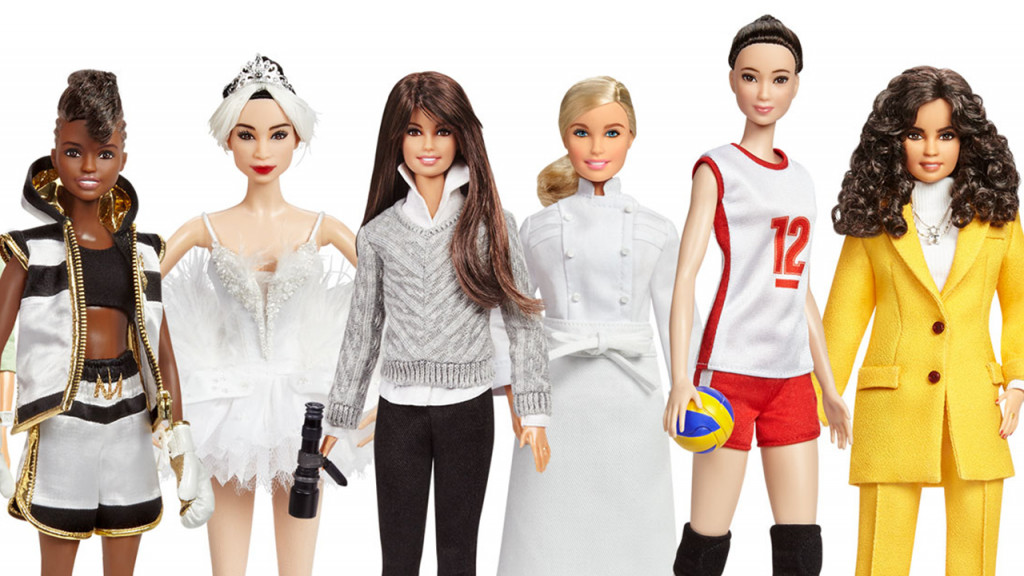 Dolls from the range of Sheroes Barbies from Mattel