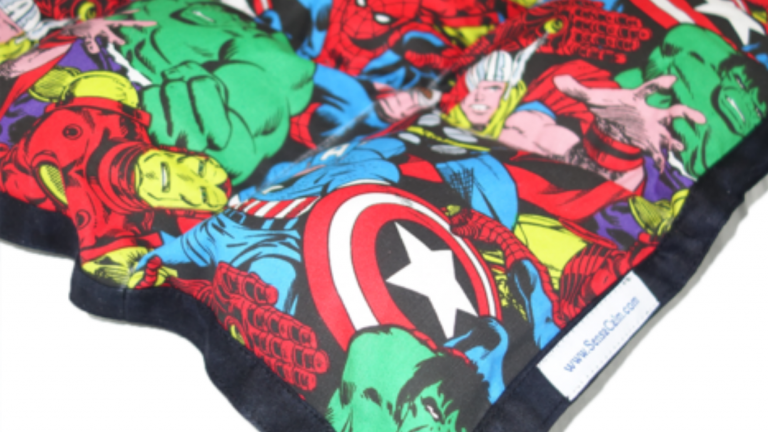 Marvel themed blanket.