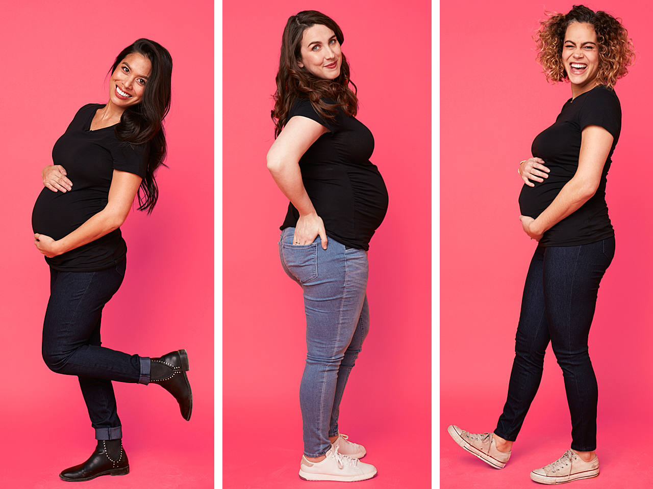 6 maternity jeans put to the test by pregnant moms