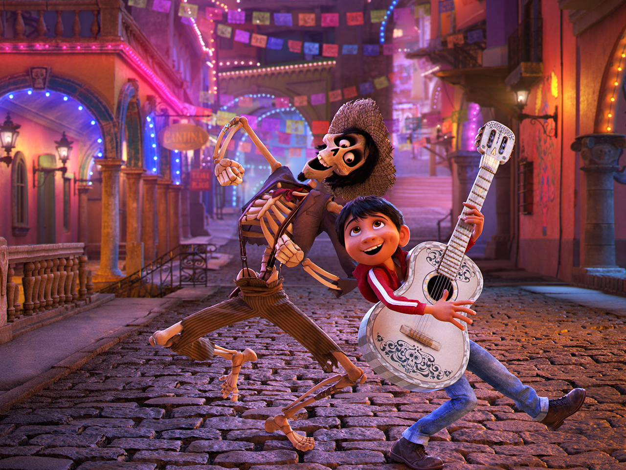A still from the kids' animated movie Coco