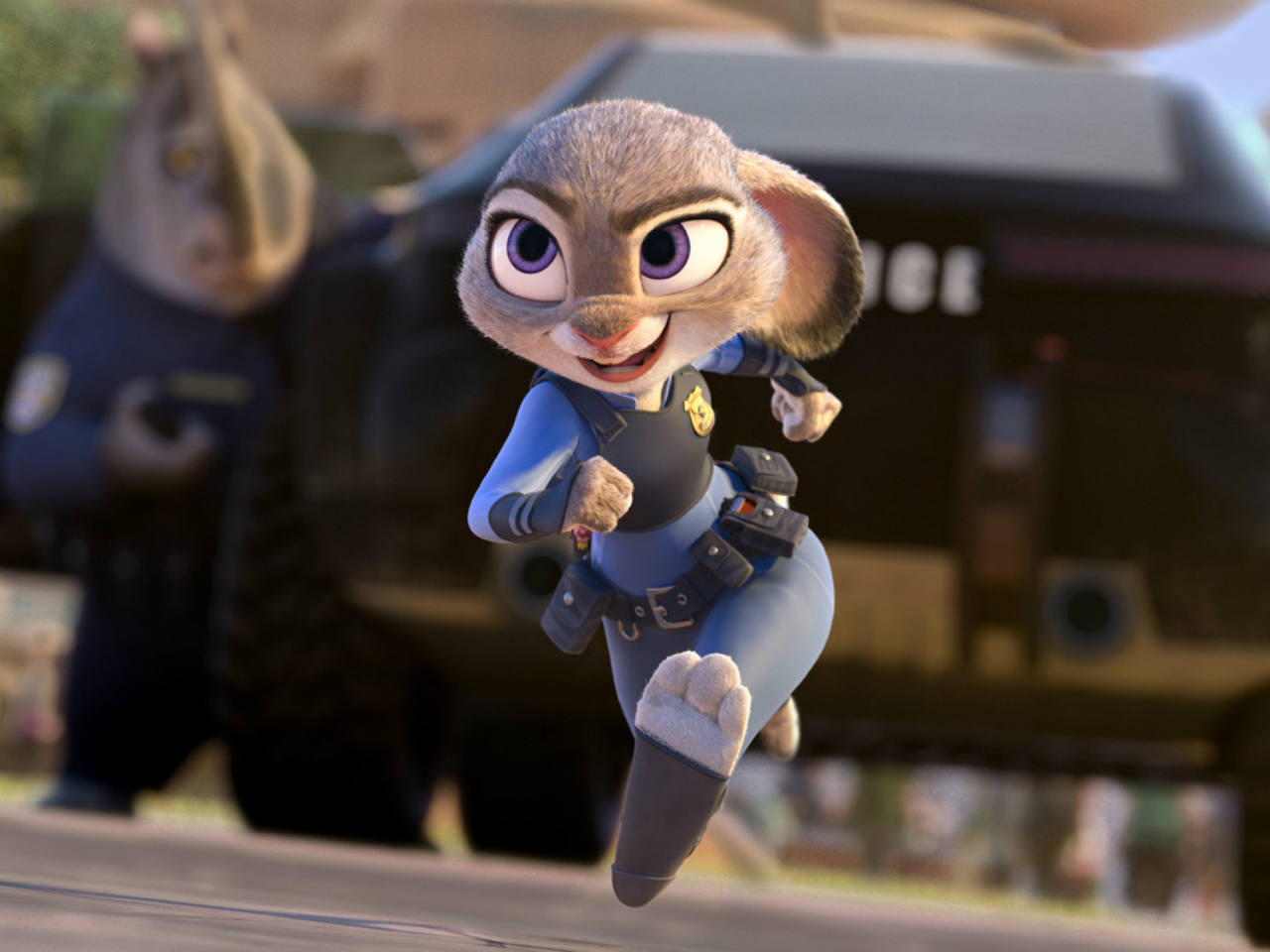 A still from the animated movie Zootopia