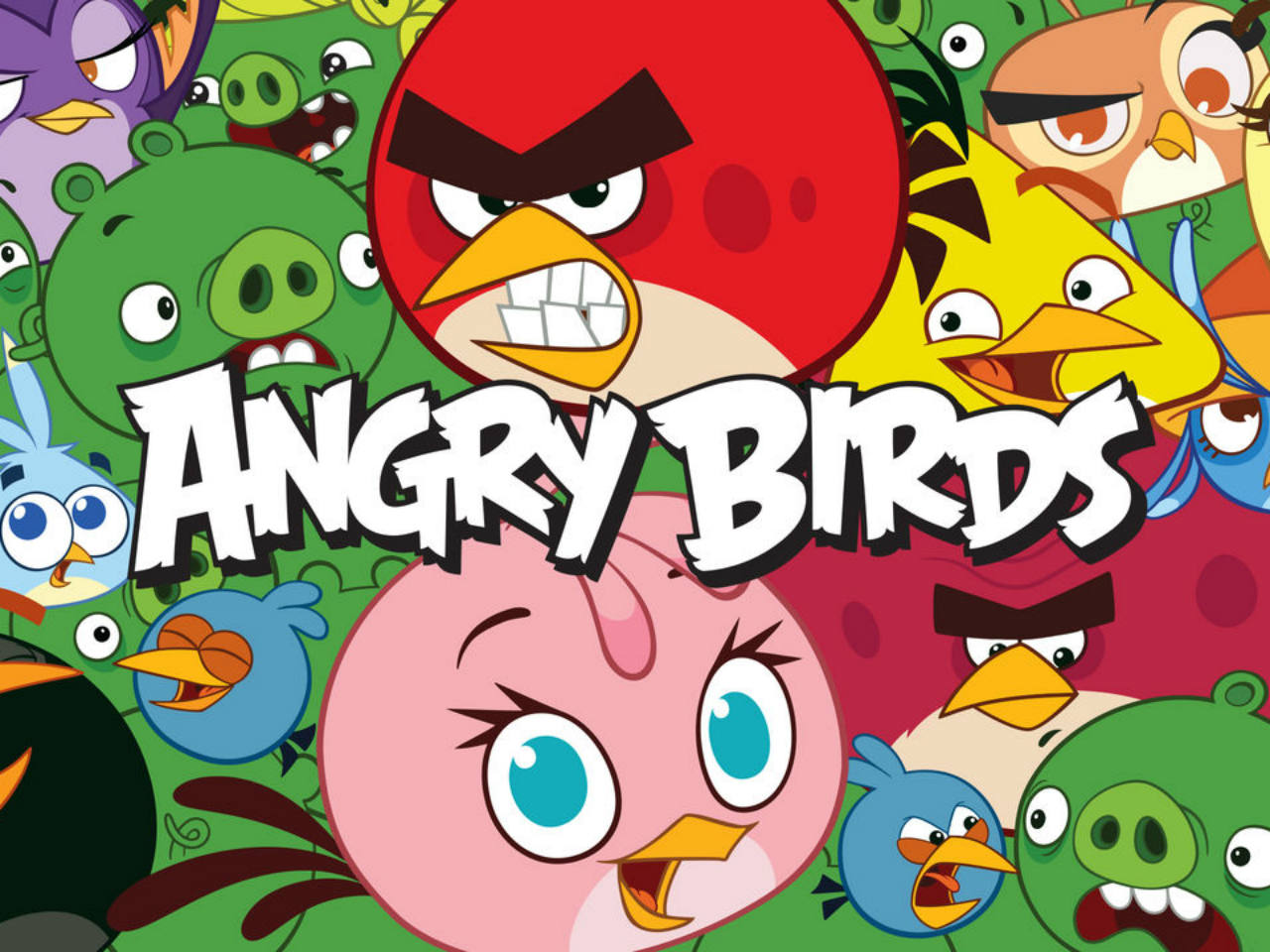 The movie poster for the kids' movie Angry Birds