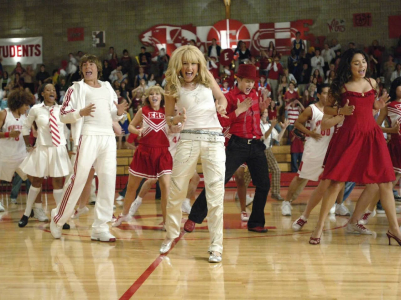 A still from the kids' movie High School Musical