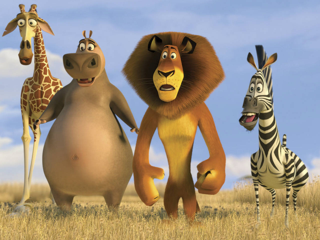 A still of the animals from the kids' movie Madagascar Escape 2 Africa