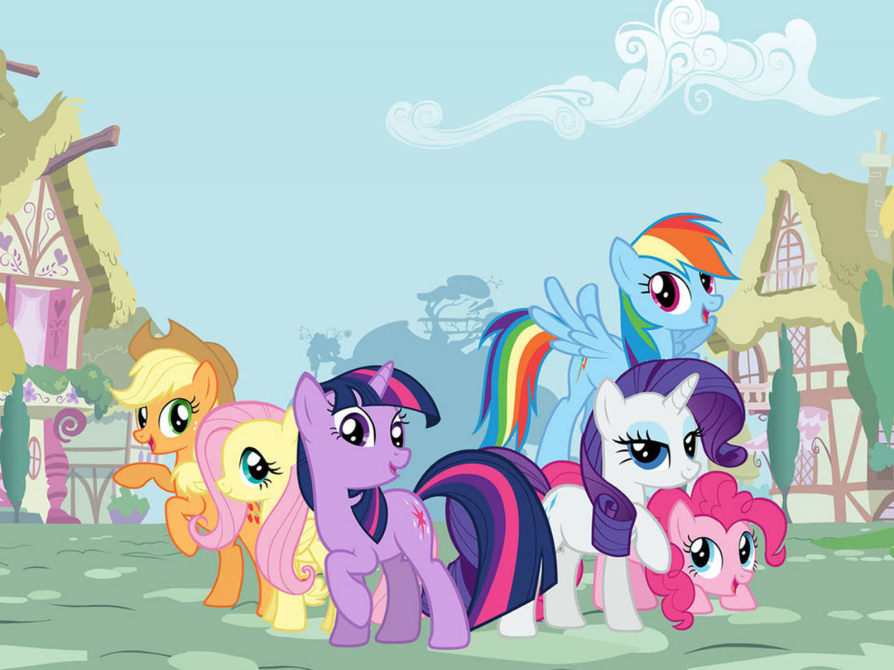 A film screen grab of the My Little Ponies