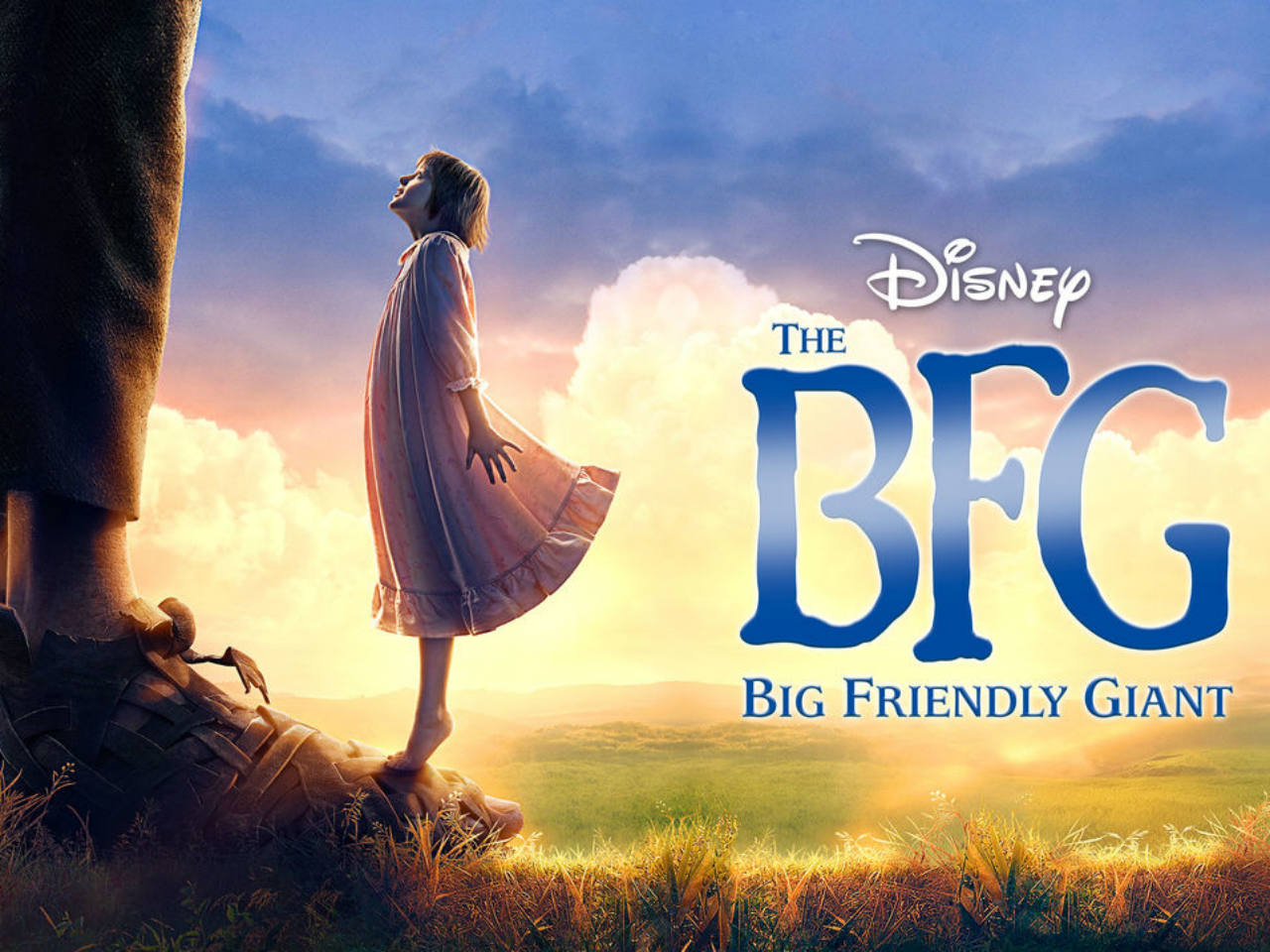 The movie poster for the kids' movie the BFG