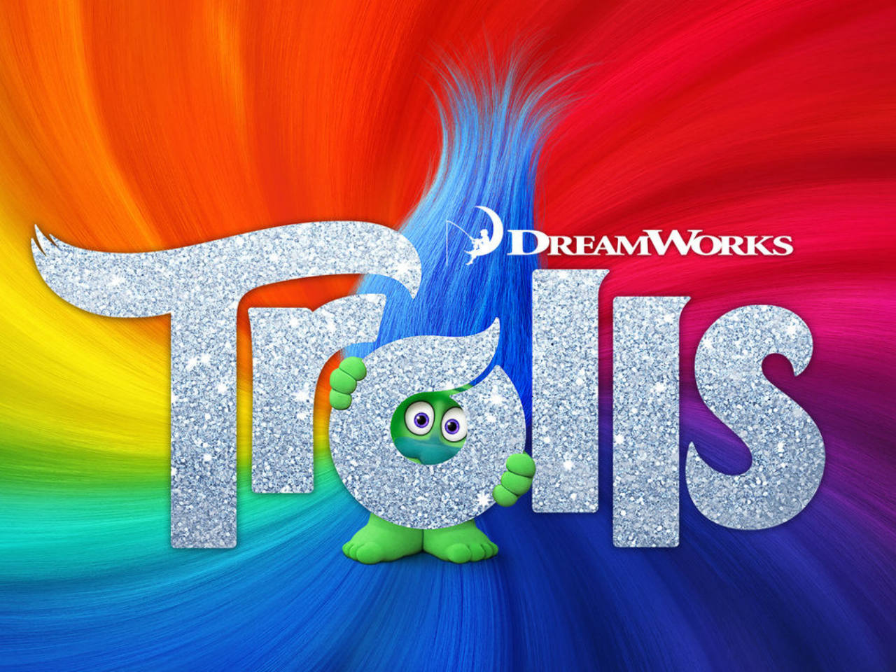 Movie poster for the kids' movie Trolls