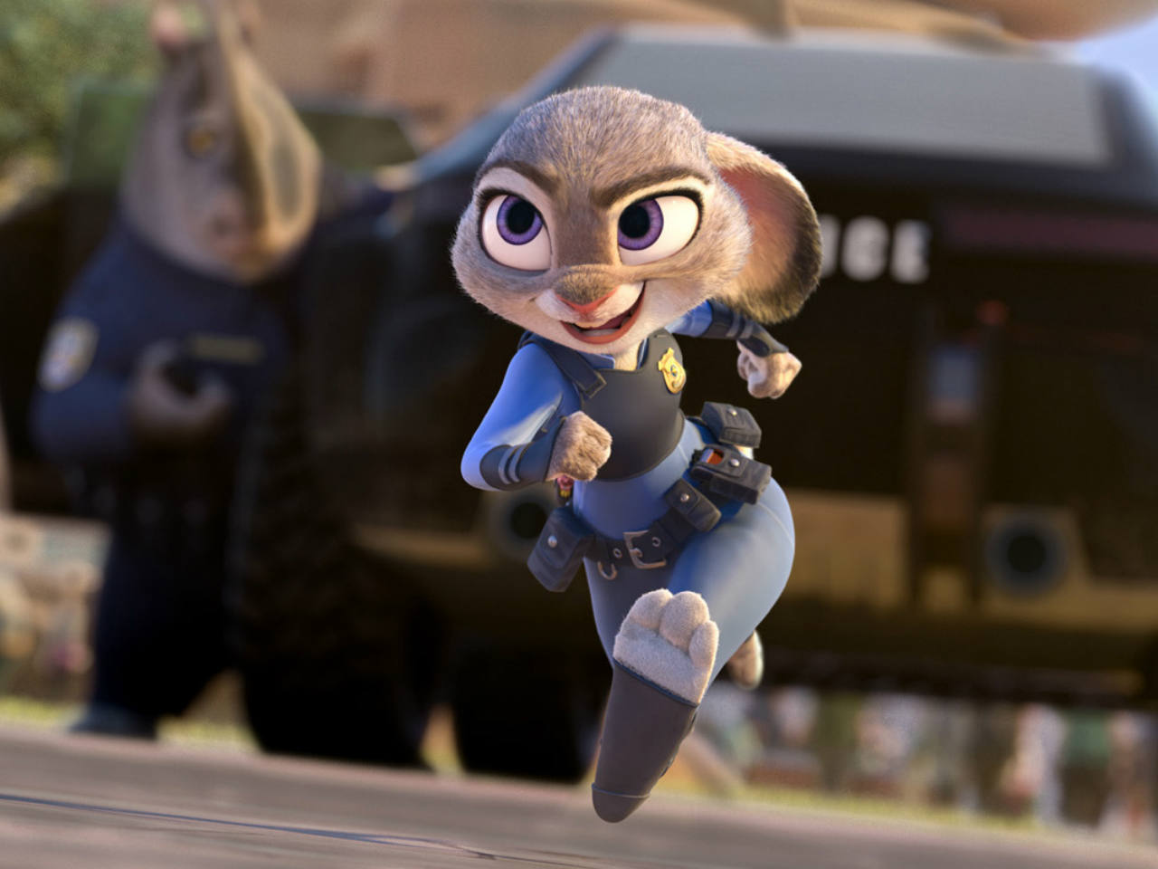 A photo from the kids' movie Zootopia