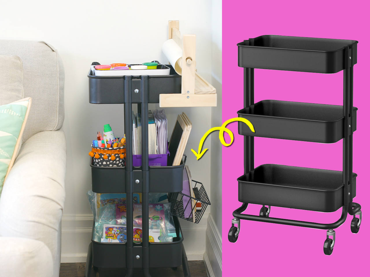 Ikea hack: Turn a rolling cart into an awesome art station