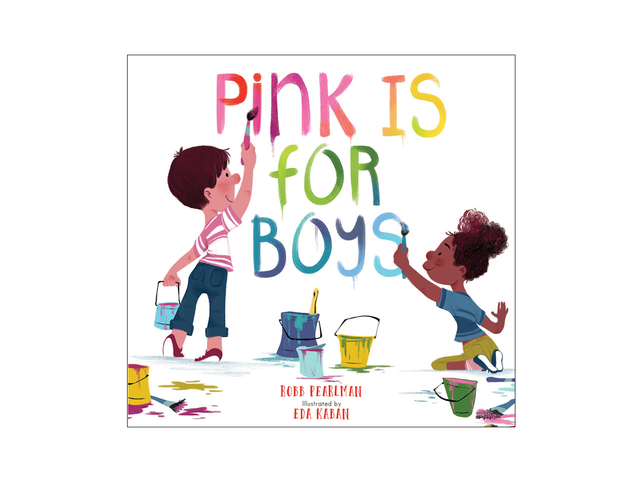 Book cover with boy and girl painting