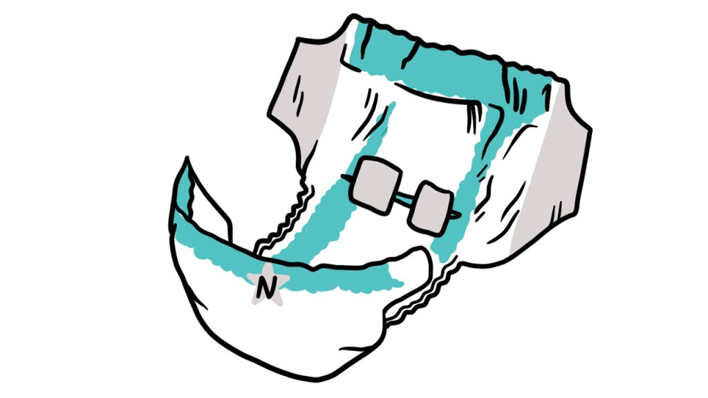 illustration of a clean diaper