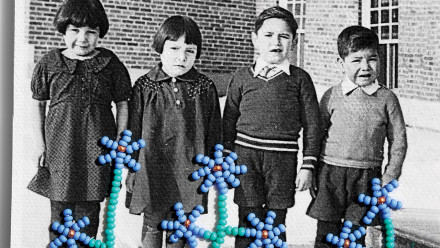 Kids in 1932 at the Shingwauk Indian Residential School