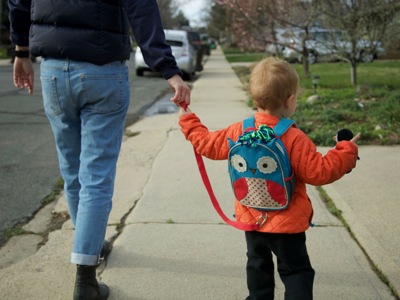 Yes, my kid is on a leash  Don't judge me