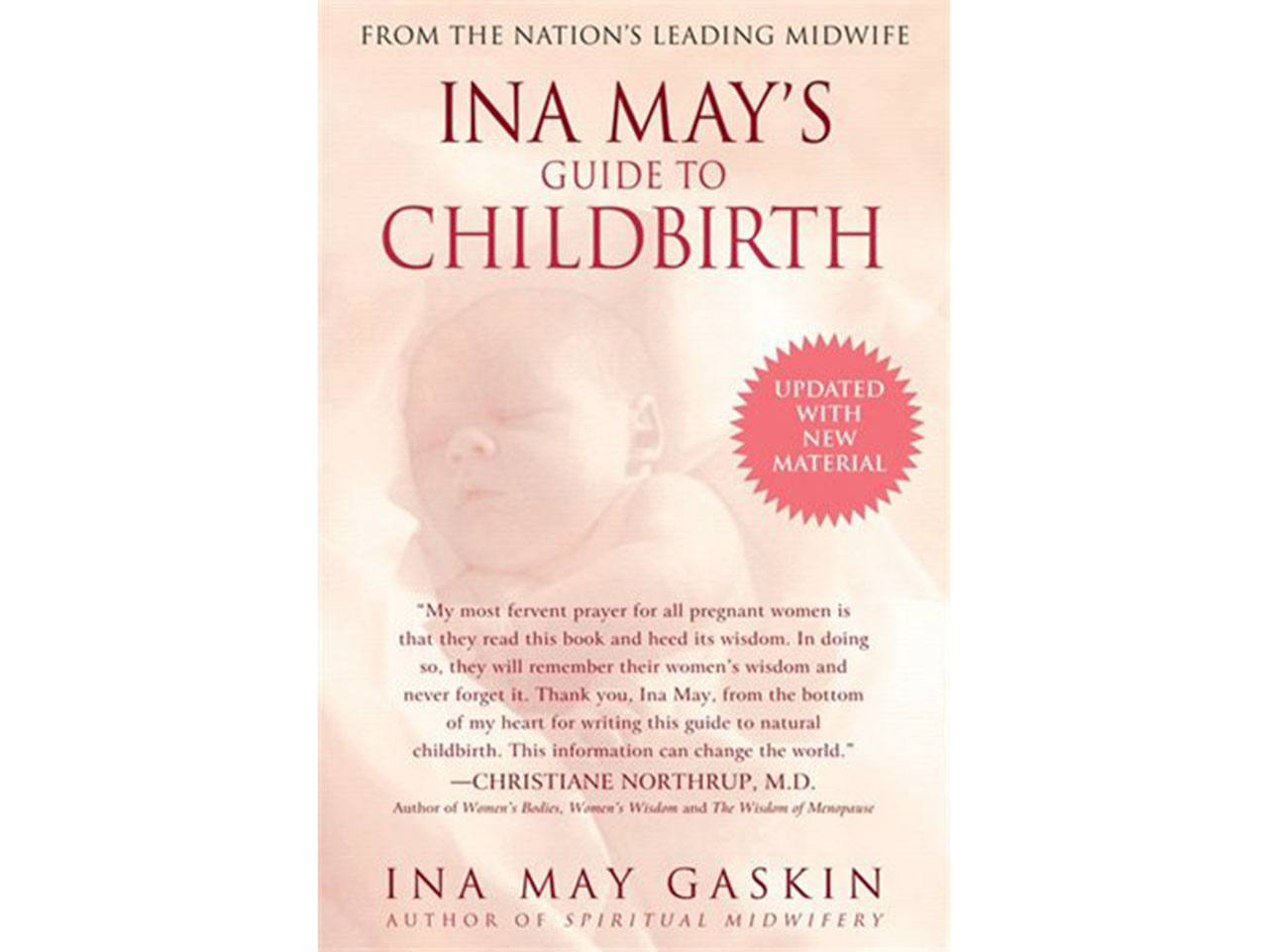 Cover of the pregnancy book Ina May's Guide to Childbirth