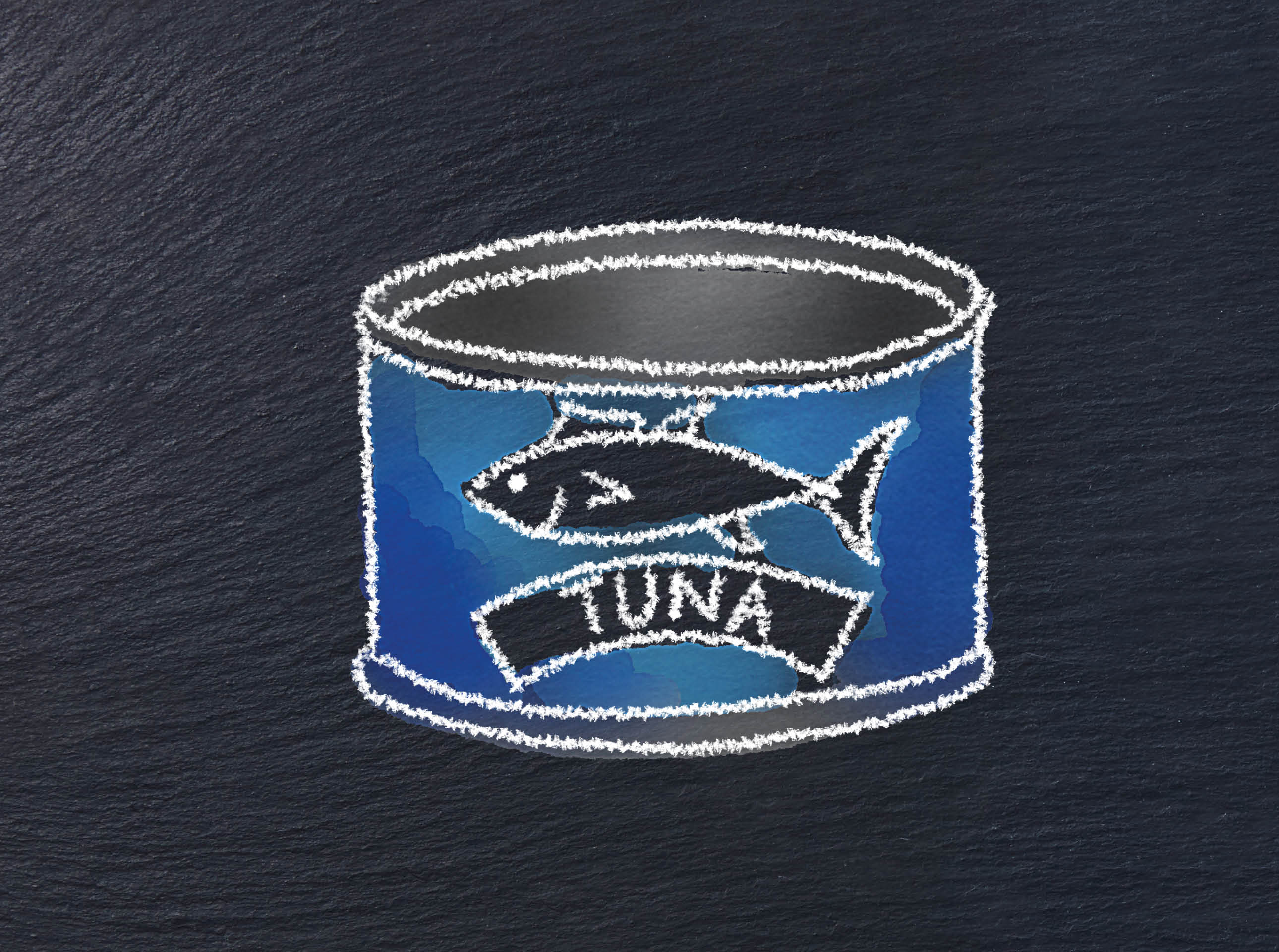 illustration of a can of tuna