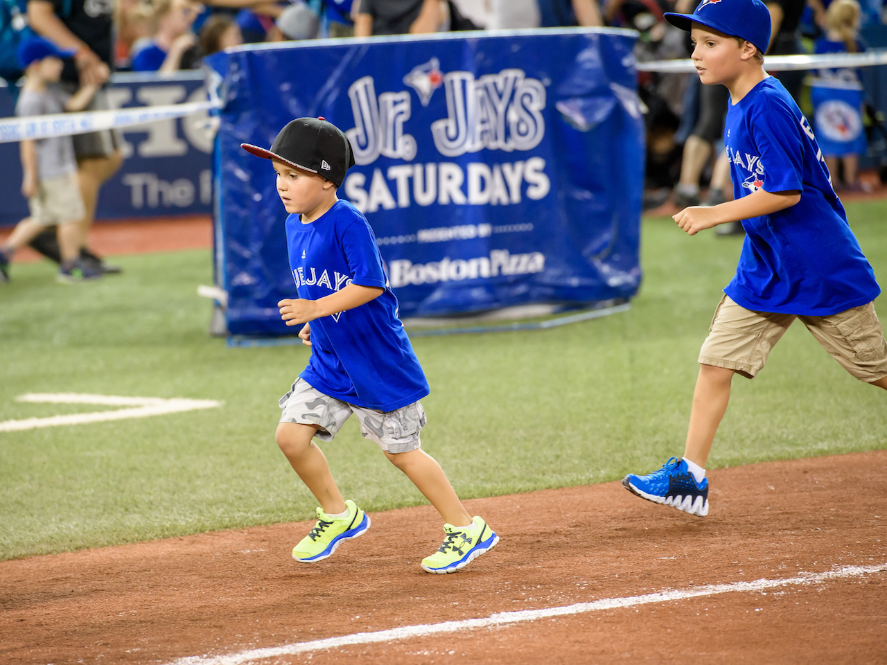 kids running the bases