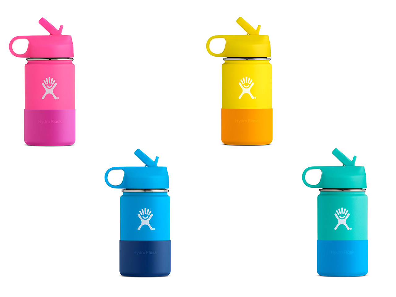 Hydro Flask 12 oz Wide Mouth Kids In All Four Colours