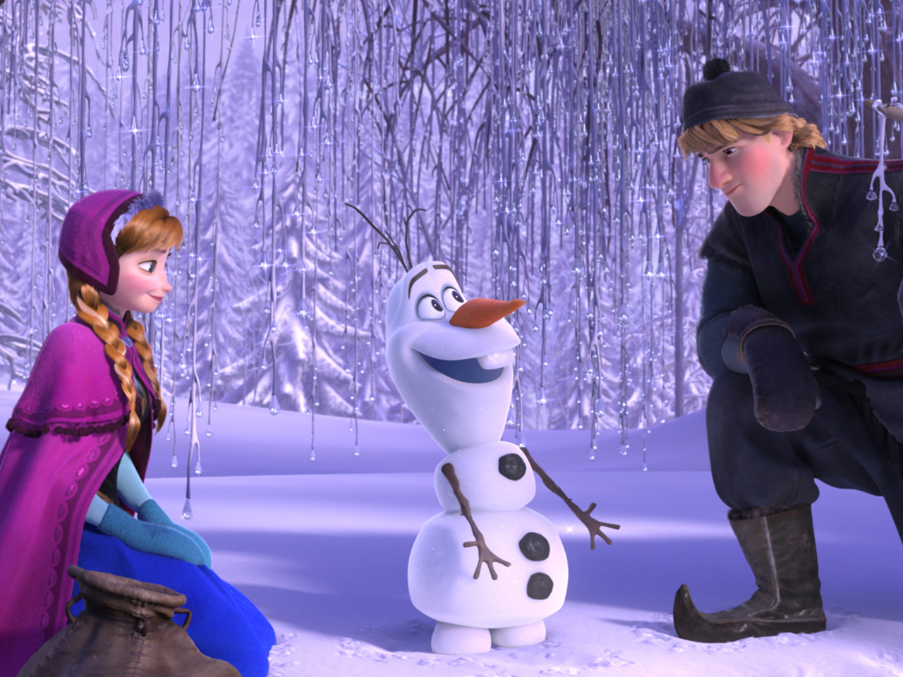 A still from the kids' animated movie Frozen